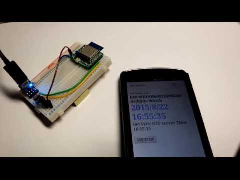 Arduino for WROOM(ESP8266) Browser Streaming Watch(Server-Sent Events Use)