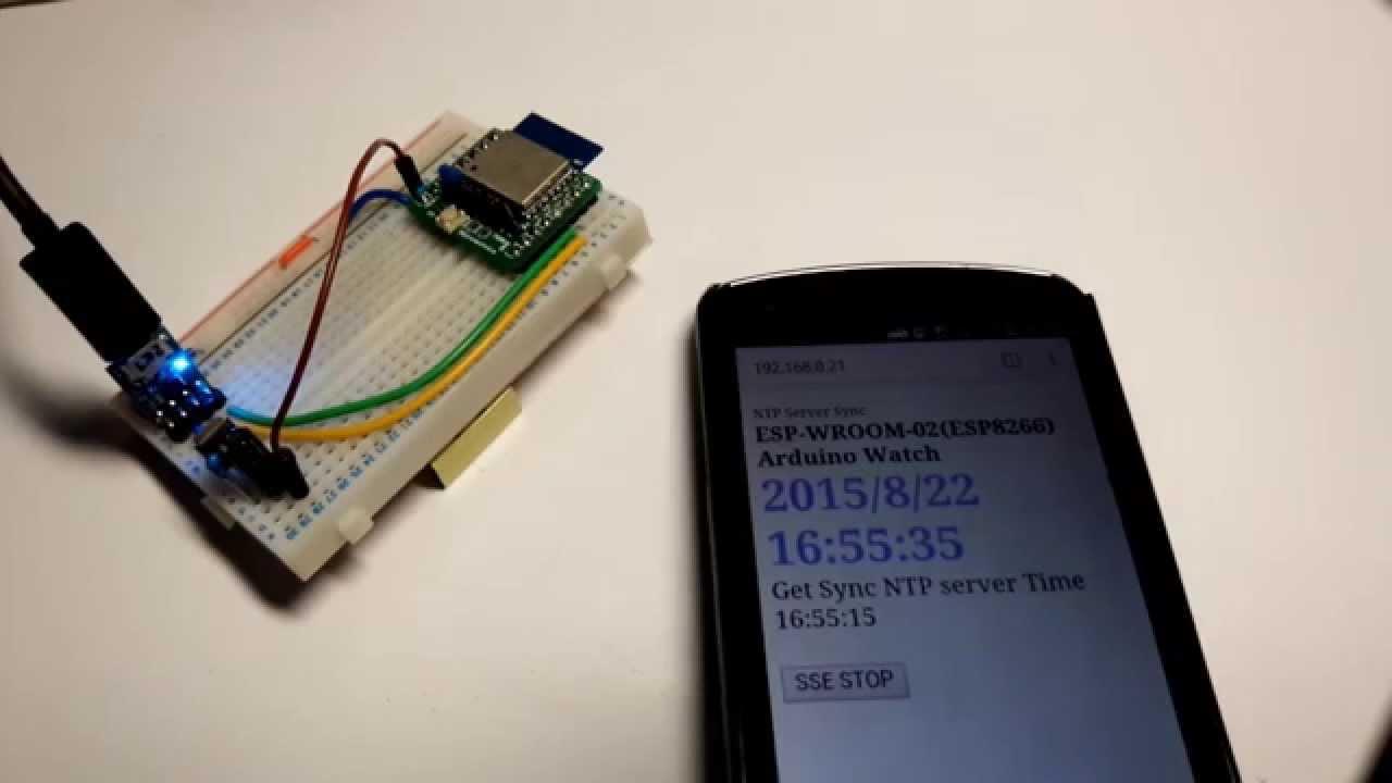 Arduino For Wroom Esp8266 Browser Streaming Watch Server