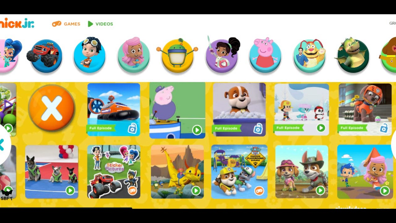 Ni nick jr games and coloring on online - Nick Jr 2017 Website Walkthrough Teletubbies Dora Bubble Guppies Paw Patrol Peppa Pig