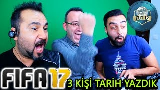 3 KİŞİ FIFA 17 FUTDRAFT TARİH YAZDIK!