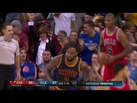 Derrick Williams Hightlight Dunk!   Bulls vs Cavs   Feb 25, 2017 NBA Regular Season