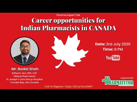 Pharma Expert Talk: Career Opportunity For Indian Phamacists In Canada