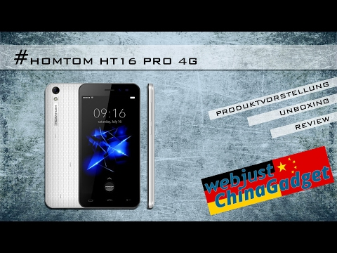 Homtom HT16 Pro 4G - Android 6.0 [ unboxing - review - german/deutsch ]