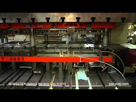 600 Ton Progressive In Die Automated Stud Assembly At