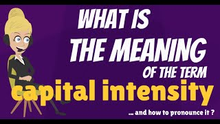 What is CAPITAL INTENSITY? What does CAPITAL INTENSITY mean? CAPITAL INTENSITY meaning