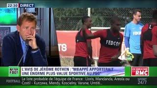 Pour Jérôme Rothen, Mbappé apporterait une plus-value sportive au PSG