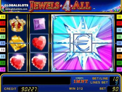 Jewels 4 all videoslot gameplay video GlobalSlots Casino