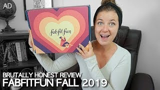 BRUTALLY HONEST REVIEW: FabFitFun Fall Unboxing 2019 | ad