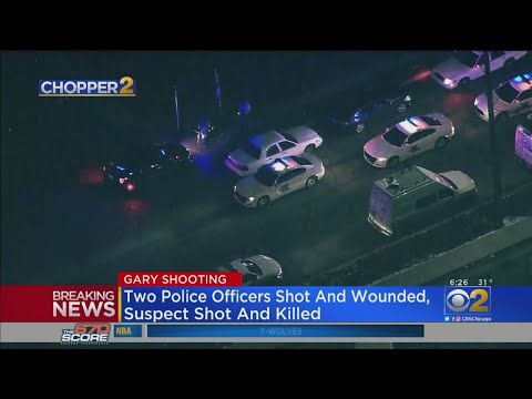 image for Two Gary Police officers shot, suspect in the shooting was shot and killed.