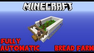 Minecraft Fully Automatic Bread Farm In 1.8 Update!! (Using Farming Villagers)