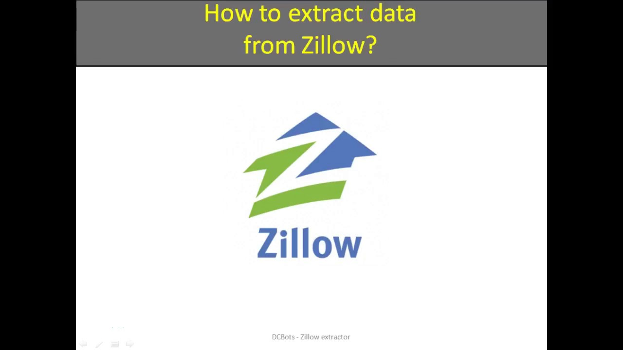 How to extract data from Zillow?