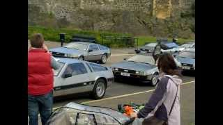 Delorean Cars At Carrickfergus Castle, Northern Ireland