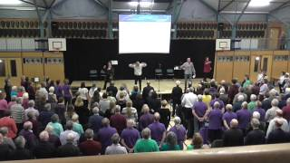 Community Choirs Festival mass workshop performance
