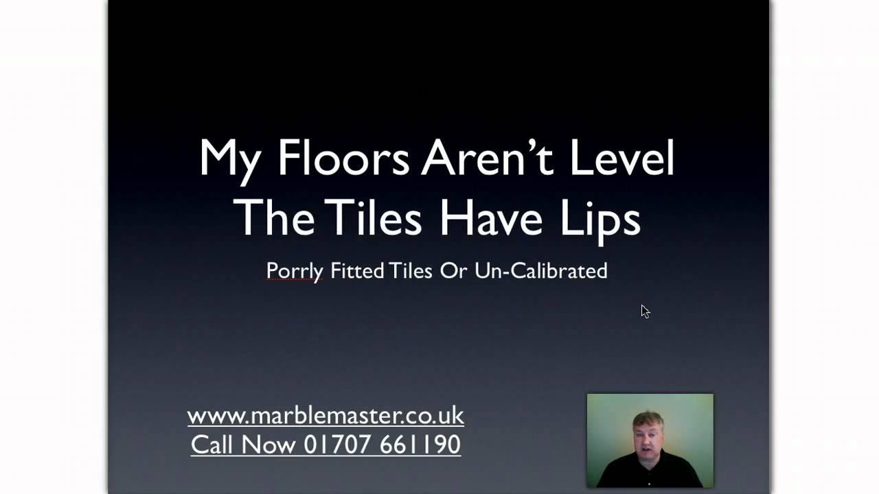 Uneven Floor Tiles Solution 01707 661190 Youtube