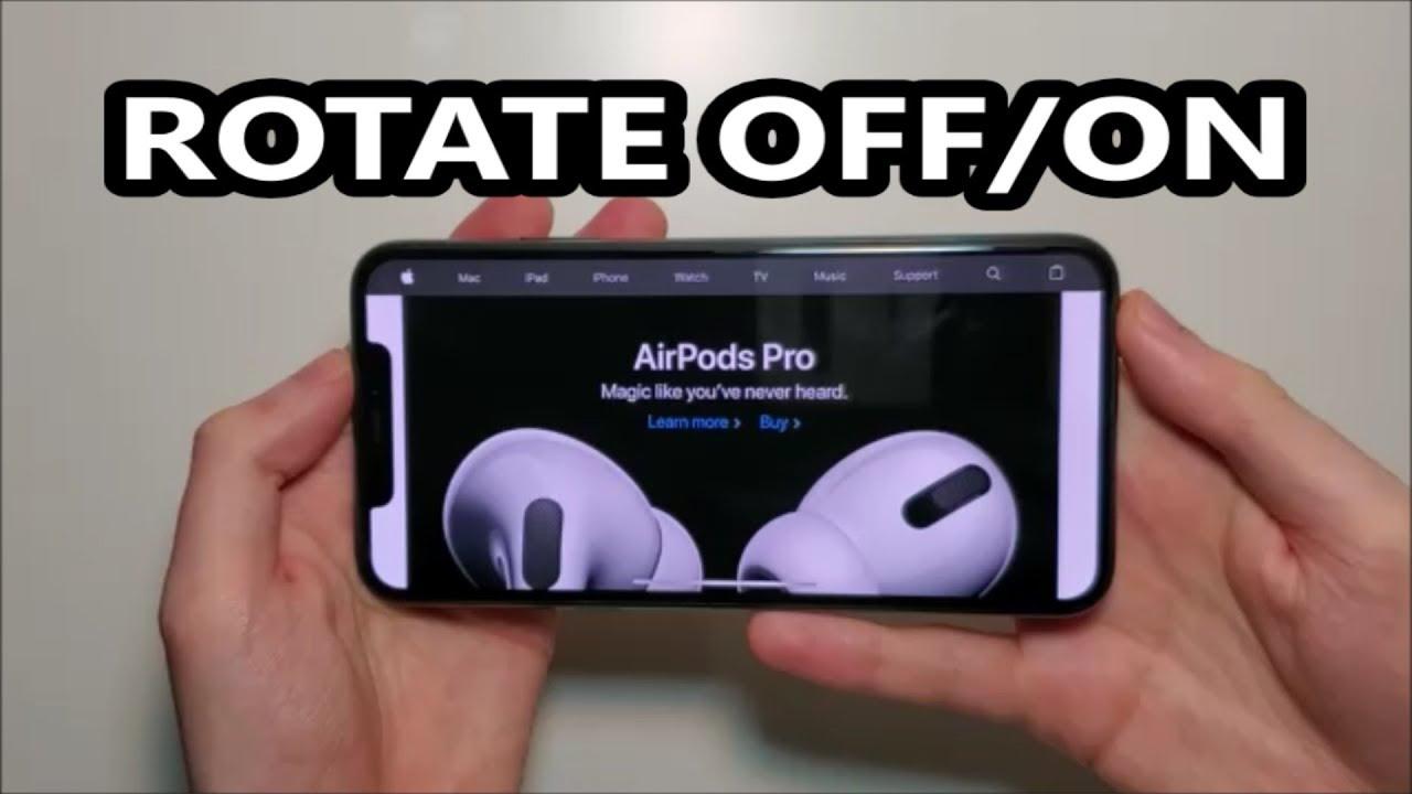 Iphone 11 How To Rotate Or Lock Screen Ios 13 Youtube