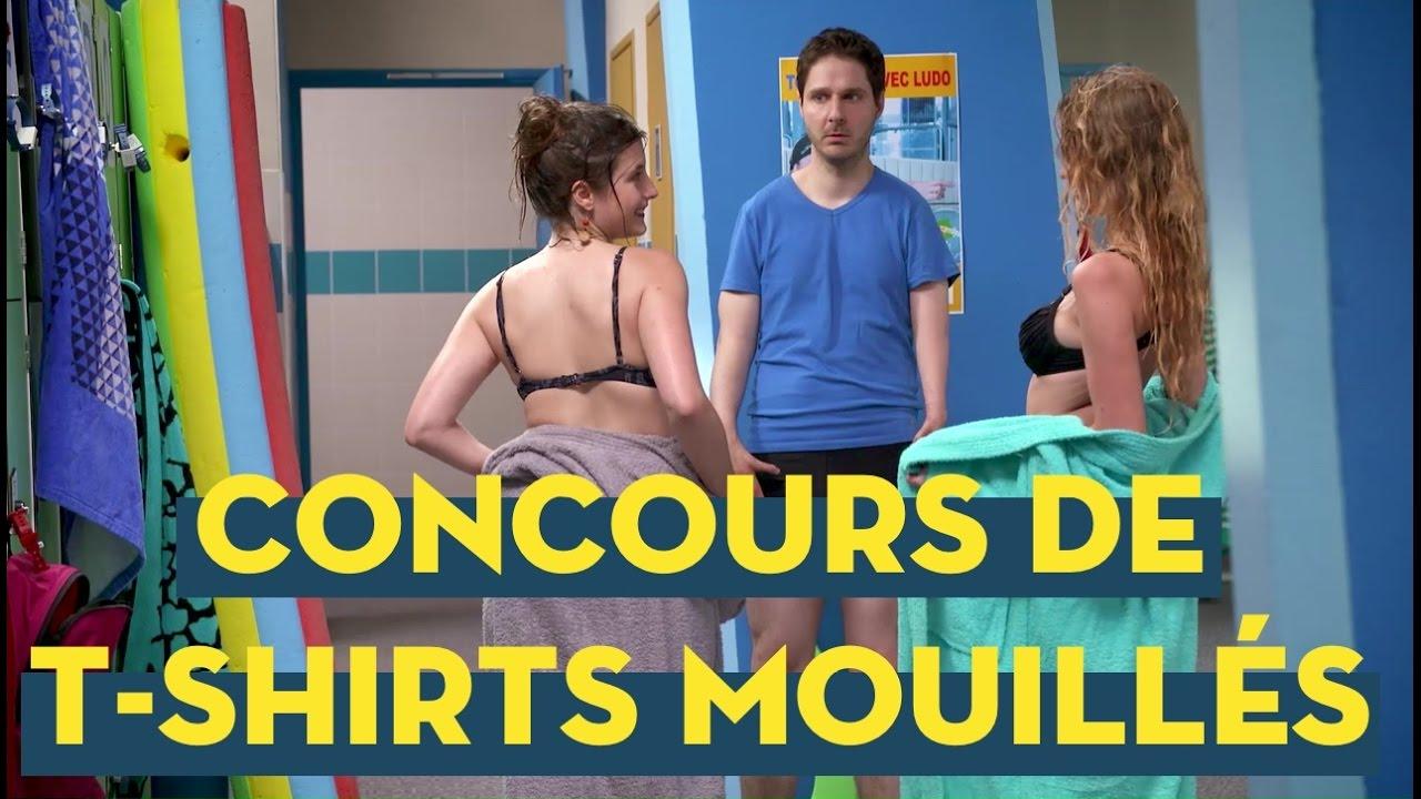 Anais Fabre Nue vestiaires s6e10 - concours de t-shirts mouillés
