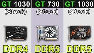 GT 1030 DDR4 vs GT 730 DDR5 vs GT 1030 DDR5 | New Games Benchmarks
