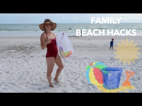 Ultimate Beach Hacks!  + Testing Some Out! Wish You Were At The Beach??  Me Too...