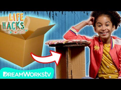 Cardboard Hacks   LIFE HACKS FOR KIDS