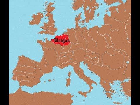 Belgian History PART1 : Roman Invasions (MAP).