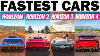 Driving Each Of The Fastest Cars On Each Highway In Each Forza Horizon Game | 1,2,3,4!
