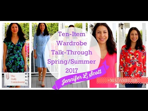 Ten Item Wardrobe Talk Through SS 2017 | Jennifer L  Scott