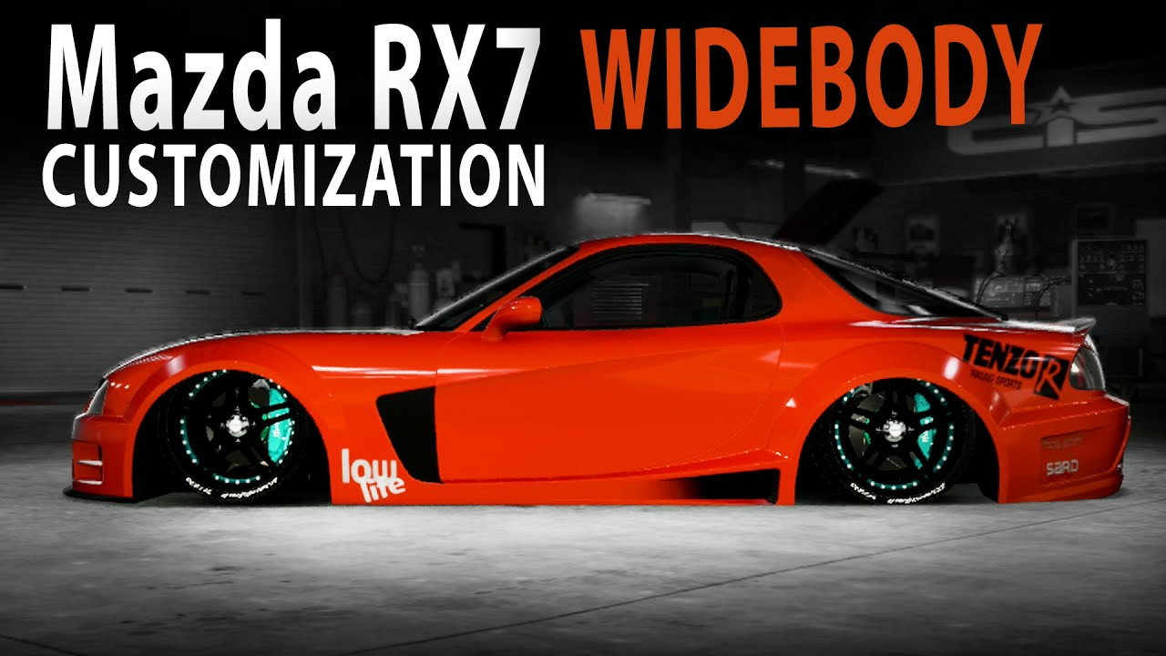 Midnight Club LA - Mazda RX7 WIDE (Customization) - YouTube