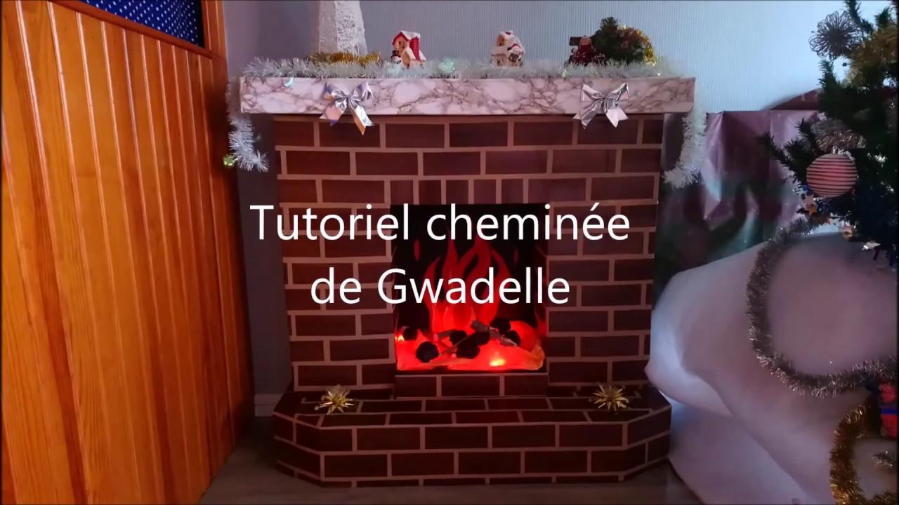 Chemin e en carton de gwadelle youtube - Cheminee de noel en carton ...