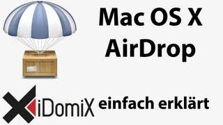 Mit AirDrop Daten austauschen zwischen Macs unter Mac OS X