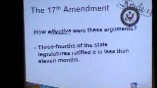Constitution Study 03 Tea Party and Socialist pass 17th Amendment.wmv