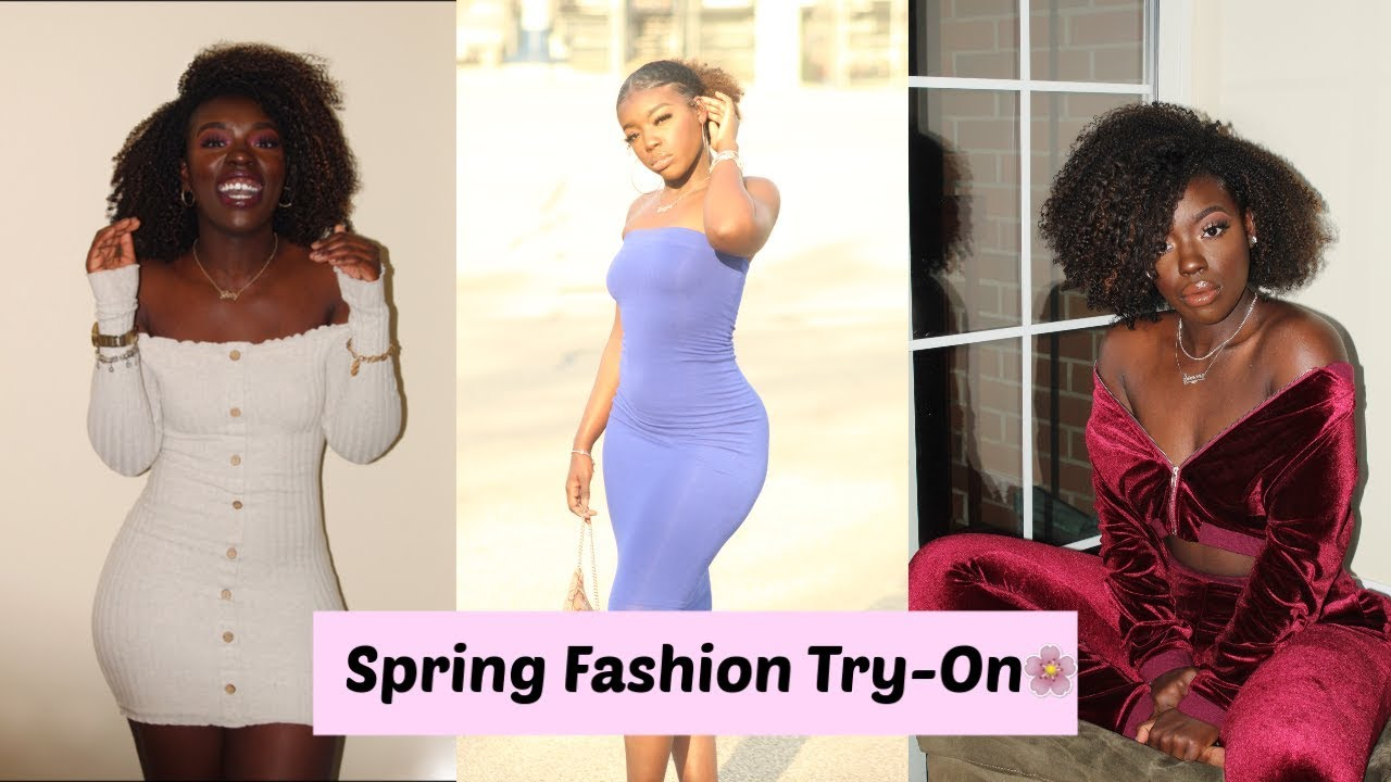 Spring Fashion Try On and Outfit Ideas 2019 ft. Louv Nails || Simone Nicole 1