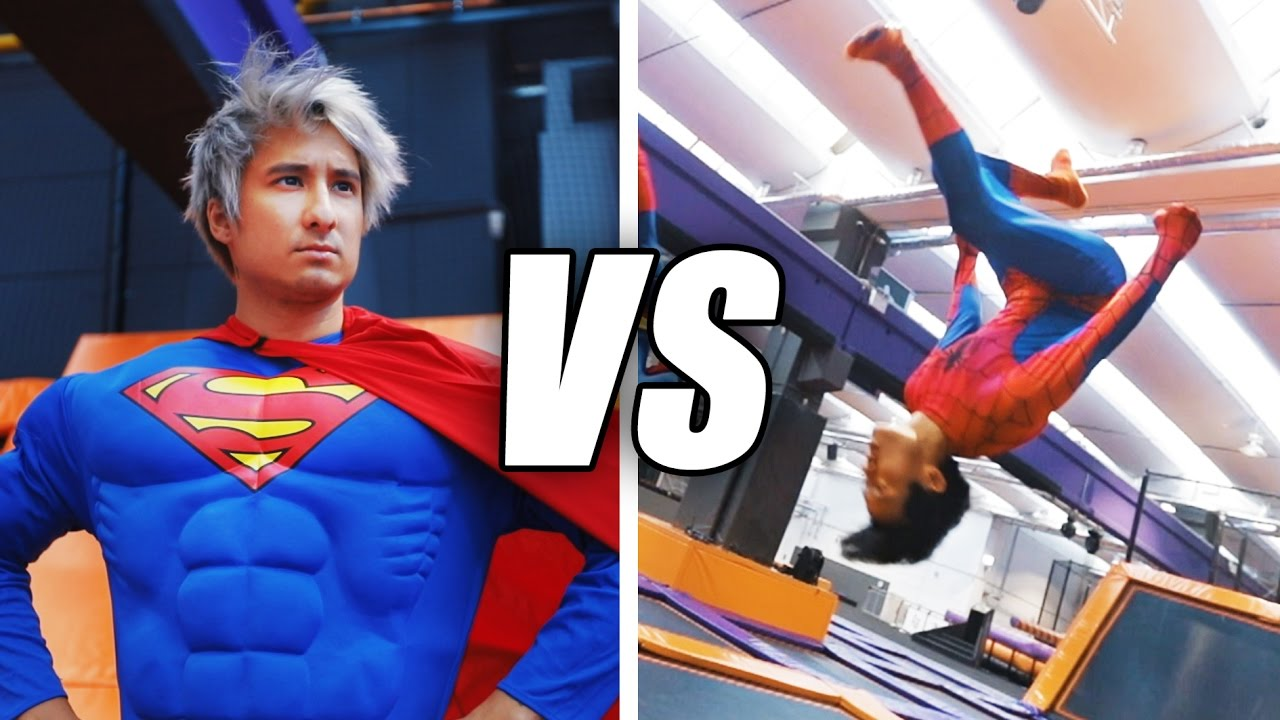 Download SPIDERMAN vs SUPERMAN Trampolin Challenge | Julien Bam & Gong Bao