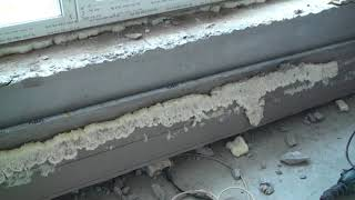 Ужасы строительства, ужасное качество установки окон и подоконников