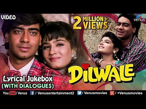 Dilwale - Lyrical Songs With Dialogues | Ajay Devgan, Raveena Tandon | 90's Bollywood Romantic Songs thumbnail