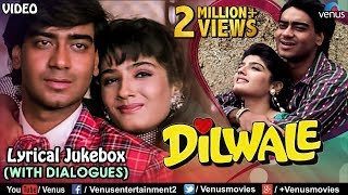 Gambar cover Dilwale - Lyrical Songs With Dialogues | Ajay Devgan, Raveena Tandon | 90's Bollywood Romantic Songs