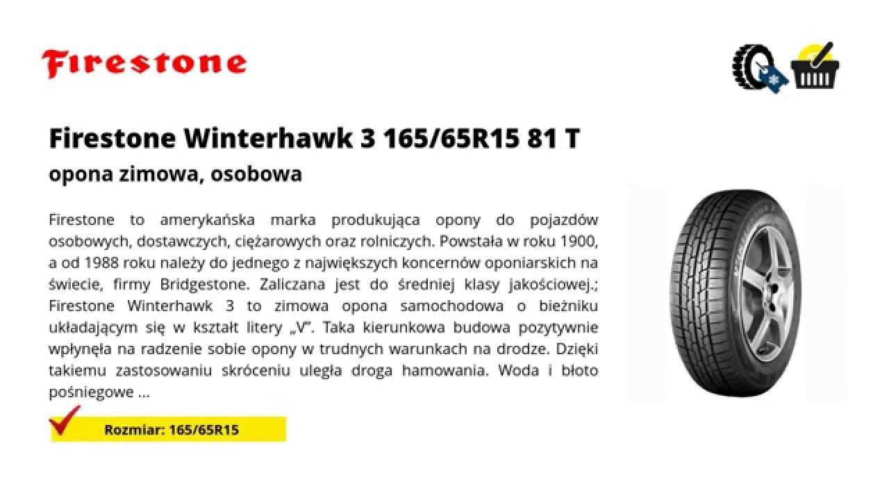 opony firestone winterhawk 3 165 65r15 81 t youtube. Black Bedroom Furniture Sets. Home Design Ideas