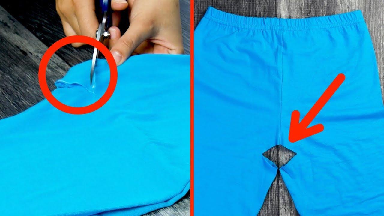 Recorta un triángulo en la entrepierna de tus pantalones. ¡No creerás lo que saldrá de ahí!