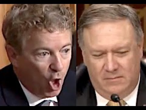 """THAT'S IGNORANT!"" Rand Paul DESTROYS Trump Lackey Mike Pompeo & EXPOSES Trump's Dumb Foreign Policy"