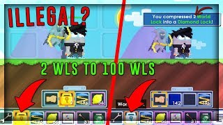 Change 2 wls to a Diamond Lock with this glitch! - Growtopia [Top 3 Visual Glitches]