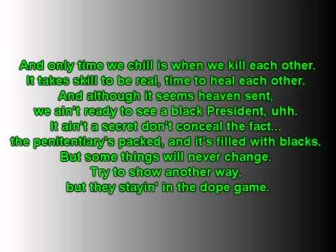 2Pac -Changes lyrics on screen