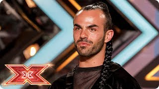 Slavko Kalezic whips his hair back and forth | Auditions Week 4 | The X Factor 2017