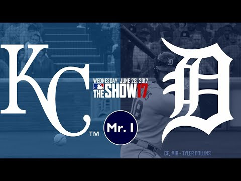 TYLER COLLINS DINGER?! (Kansas City Royals @ Detroit Tigers) MLB The Show 17