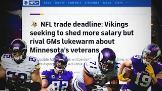 Cbs sports jason lacanfora reported that the minnesota vikings have all veteran option on table available for trade, but market might not be buying. ...