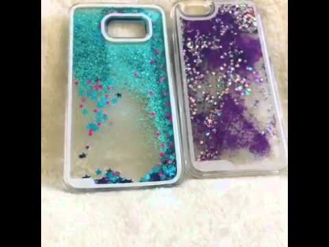 detailed look bea53 aaa47 Moving liquid Glitter Galaxy S6 iPhone 6 Phone Case at LUXURIOUS BLING