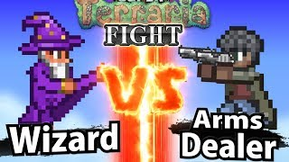 Wizard vs Arms Dealer - Super Terraria Fight