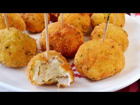 Chupa-chups o bolitas de pollo a la villeroy (villaroy)!! Ricos y fáciles!