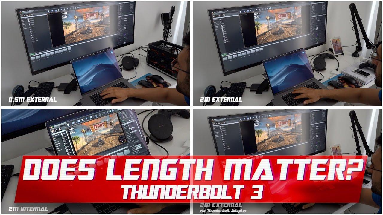 Thunderbolt 3 Cable eGPU Review - Internal vs External Display, Gaming,  Video Editing