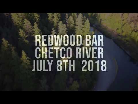 Chetco River Redwood Bar Single Shot drone Fly Over July 2018
