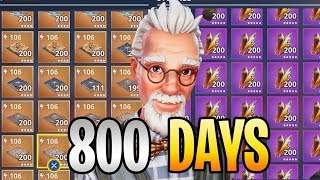 FORTNITE - 800 Days Logged In Save The World! (Showing My Entire Inventory)