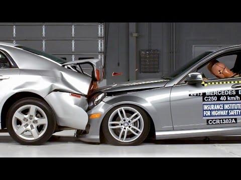 Mercedes C-Class VS Chevrolet Malibu - CRASH TEST